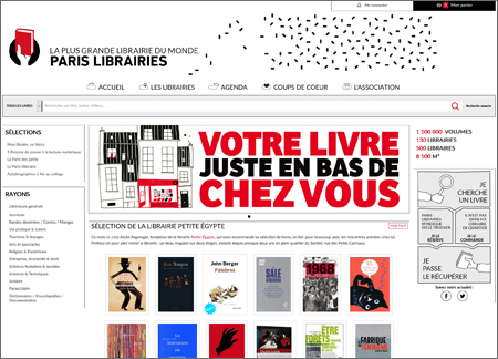 Site Paris Librairies